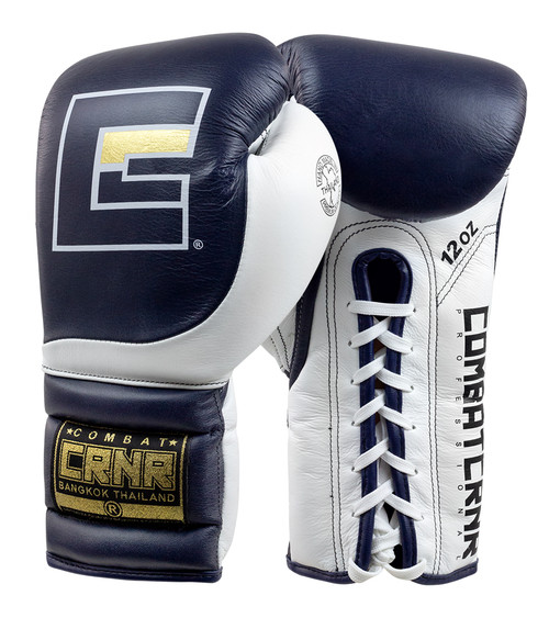 HMIT Lace Up Sparring Gloves Navy