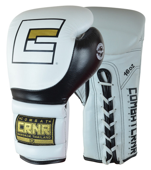 White HMIT Muay Thai Sparring Gloves