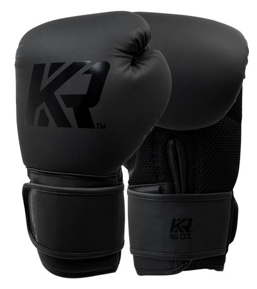 Black Boxing Gloves, KRBON Boxing Gloves