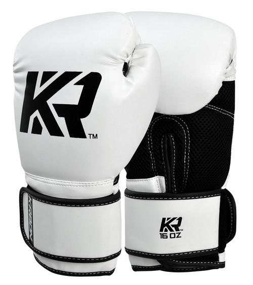 Krbon Boxing Gloves, White Boxing Gloves
