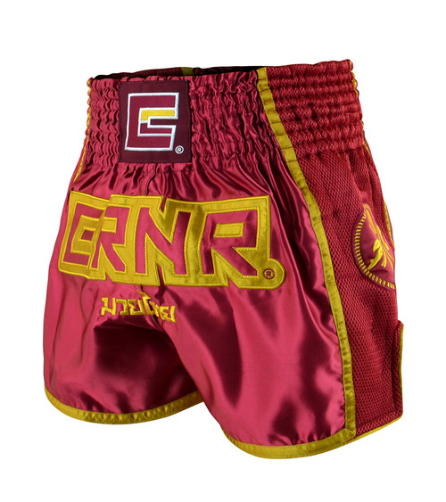 Maroon CRNR Muay Thai Shorts