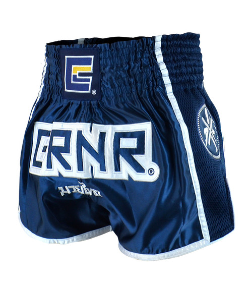 Navy CRNR Muay Thai Shorts