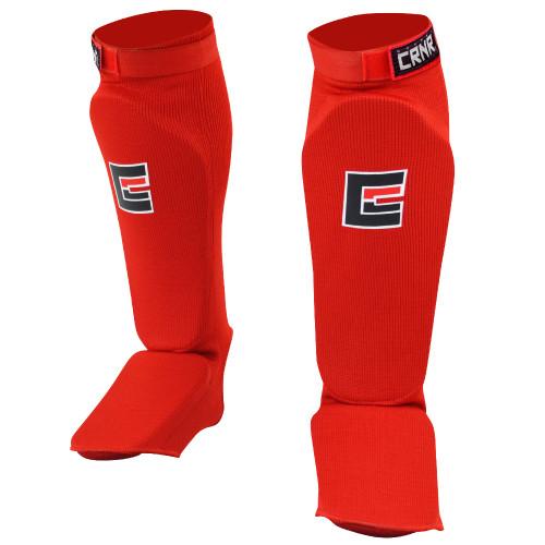 Slip on Elastic Shin Pads | Red