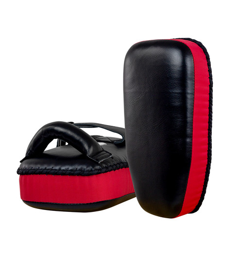 8 Muay Thai Single Strap Thai Pads | Black/Red