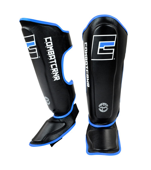 HMIT Muay Thai Shin Guards Cyan