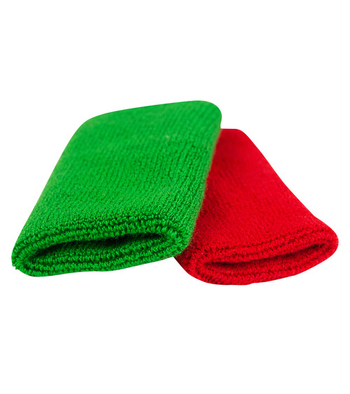 Referee Folkstyle wrestling scoring wrist bands red and green