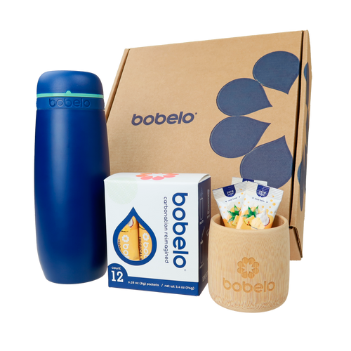 mixer bottle and sample pack, self-carbonating hydration