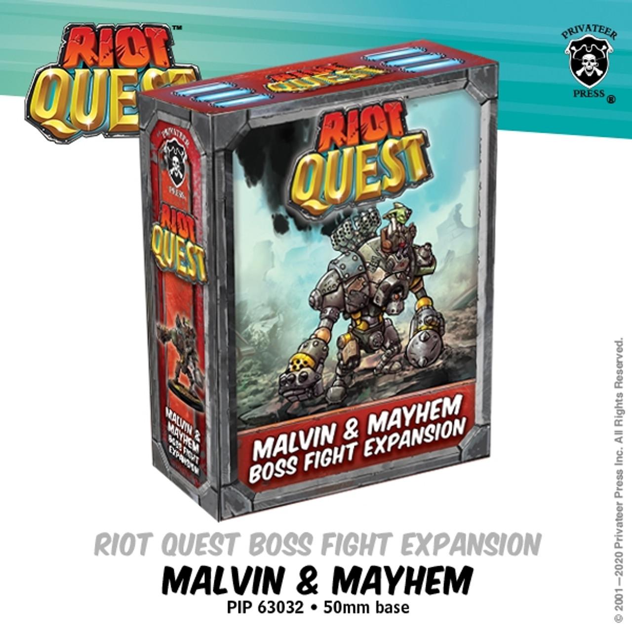 Riot Quest Malvin /& Mayhem Boss Fight Expansion PIP63032