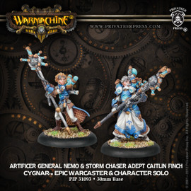 Artificer General Nemo and Storm Chaster Adept Caitlin Finch
