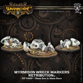 Retribution of Scyrah Myrmidon Wreck Markers (3) (Resin and White Metal)