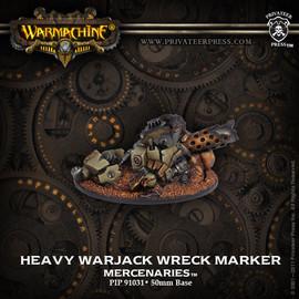 Merc Heavy Warjack Wreck Marker