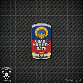Cereal #5: Quakehammer Oats Pin