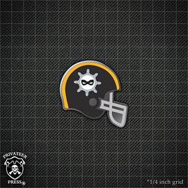 Football Helmet: Five Fingers Dicers Pin