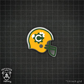 Football Helmet: Clockers Cove Pirates Pin
