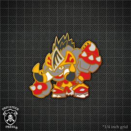 Chibi Bronzeback Titan Pin