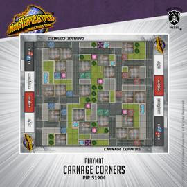 Monsterpocalypse Carnage Corners Fabric Playmat