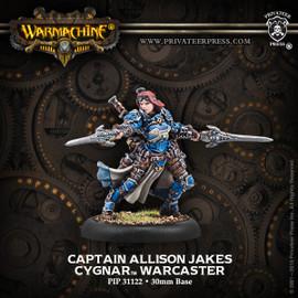 Captain Allison Jakes - Cygnar Warcaster