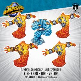 Elemental Champions Unit: Fire Kami & Air Avatar