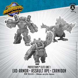 Protectors Alternate Elite Units: Carnidon, Exo-Armor, and Assault Ape