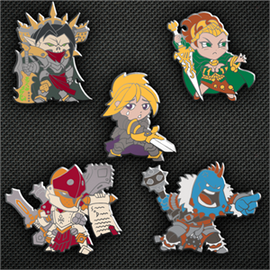 Chibi Warcaster and Warlock Pin Set