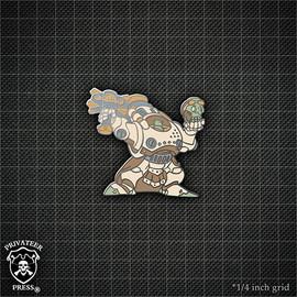 Zombie Gorten Grundback Pin