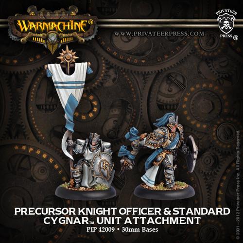 Precursor Knight Officer & Standard Bearer