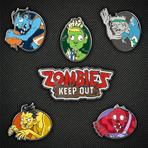 Zombies Keep Out Pin Set