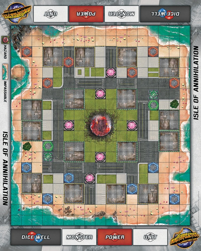 Monsterpocalypse Isle of Annihilation Fabric Playmat