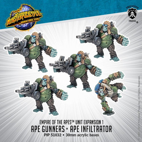 Empire of the Apes Unit: Ape Gunners & Ape Infiltrator