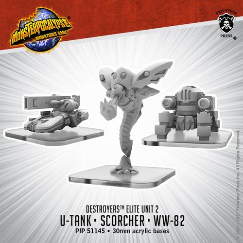 Destroyers Alternate Elite Units: U-Tank, WW-82, and Scorcher