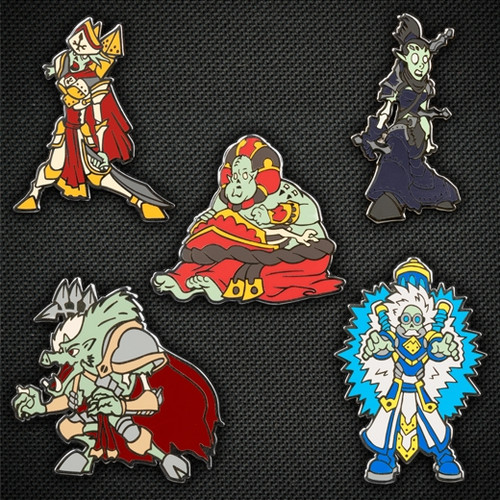 Zombified Warcaster and Warlock Pin Set