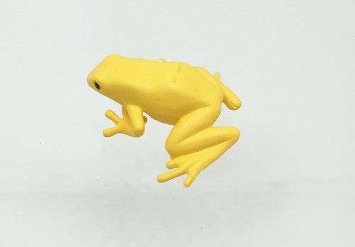 Poison Dart Frog Plastic Replica GOLDEN 1 7/8 inches long - F4083 B54