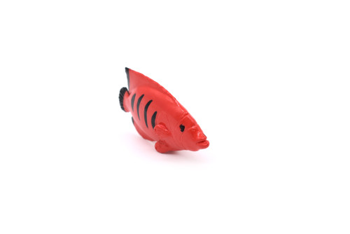 Plastic Red Angelfish 2 1/4 inches long - F1786 B145