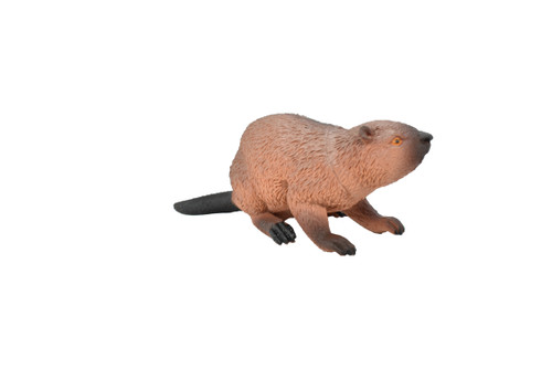 Beaver hollow plastic toy 5 3/4 inches long - F4337 B3