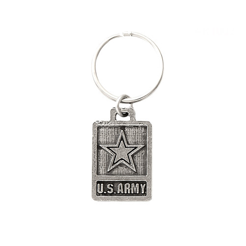 Us Army (Double-Sided) Pewter Keychain, A1003KC