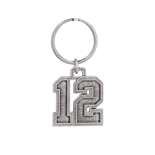 #12 Keychain Pewter Keychain, A1040KC