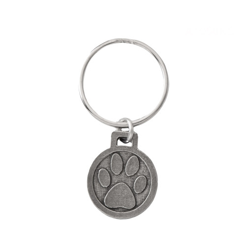 Dog Paw Pewter Keychain, A1050KC
