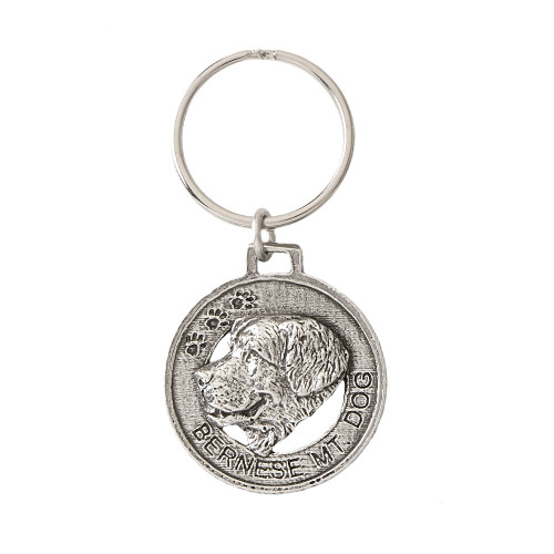 Bernese Mountain Dog Pewter Keychain, D024KC