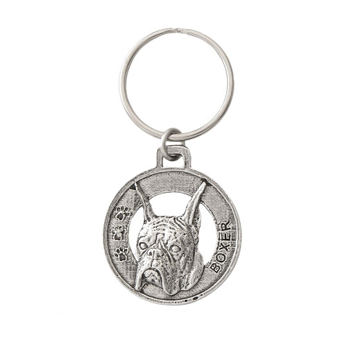 Boxer Pewter Keychain, D036KC
