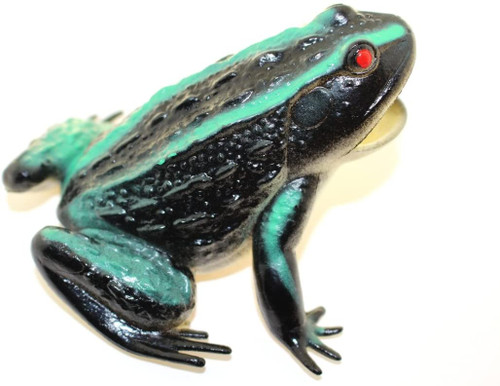 This Blue Frog is a great addition to a child's toy collection, a school project, or a decorative piece for an animal lover.  You'll love it.! A frog is any member of a diverse and largely carnivorous group of short-bodied, tailless amphibians composing the order Anura.