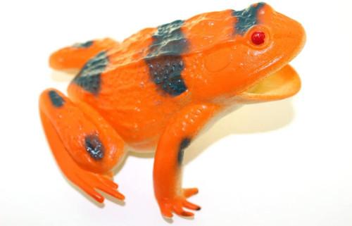 "Orange Frog ~ Rubber Replica 3"" X 3""   F6089-B3"