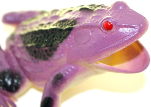"Purple Frog ~ Rubber Replica 3"" X 3""    F6090-B3"