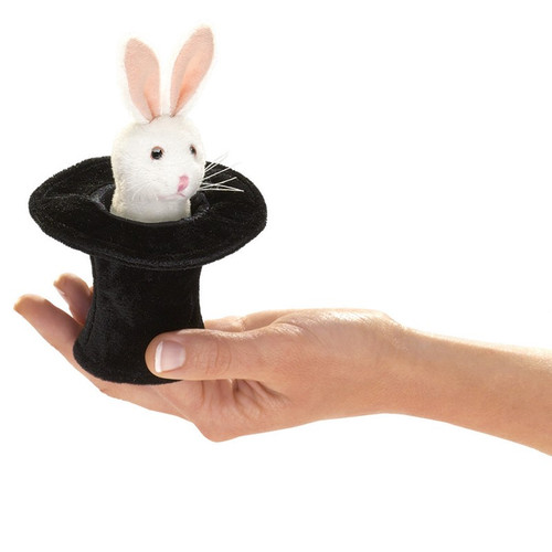 Rabbit in Hat Finger Puppet - F020B50