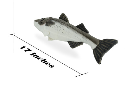 Striped Bass 17 Inch Stuffed Animal Fish
