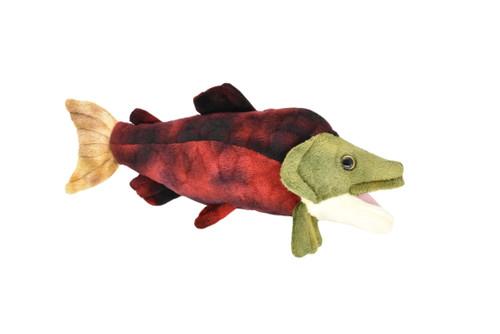 "Sockeye Salmon Stuffed Plush Toy 11"" - F077BB16"