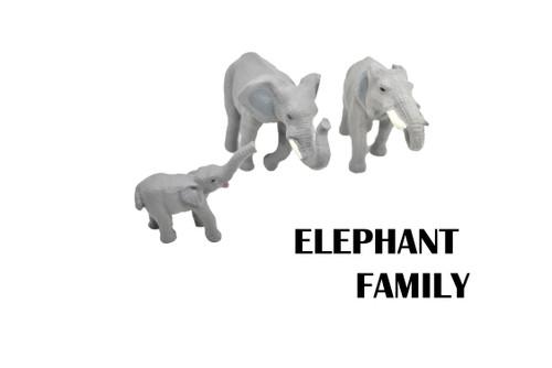 HAS T PARENT ELEPHANTS AND A CALF