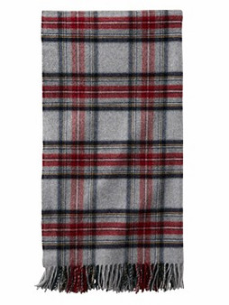 Pendleton Grey Stewart Plaid 5th Avenue Throw