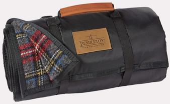 Nylon Backed Charcoal Stewart Roll-up Blanket