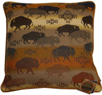 Pendleton Prairie Rush Hour Buffalo Bison Decorative Pillow