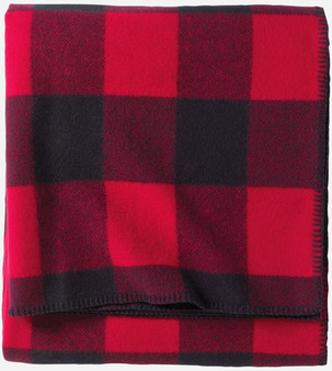Ez Care Washable Wool Rob Roy Red Tartan Blanket